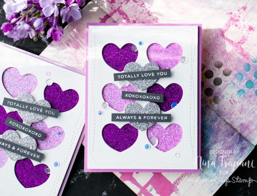 Layered Die Cutting with Glitter + Simon's You Are Loved Hop