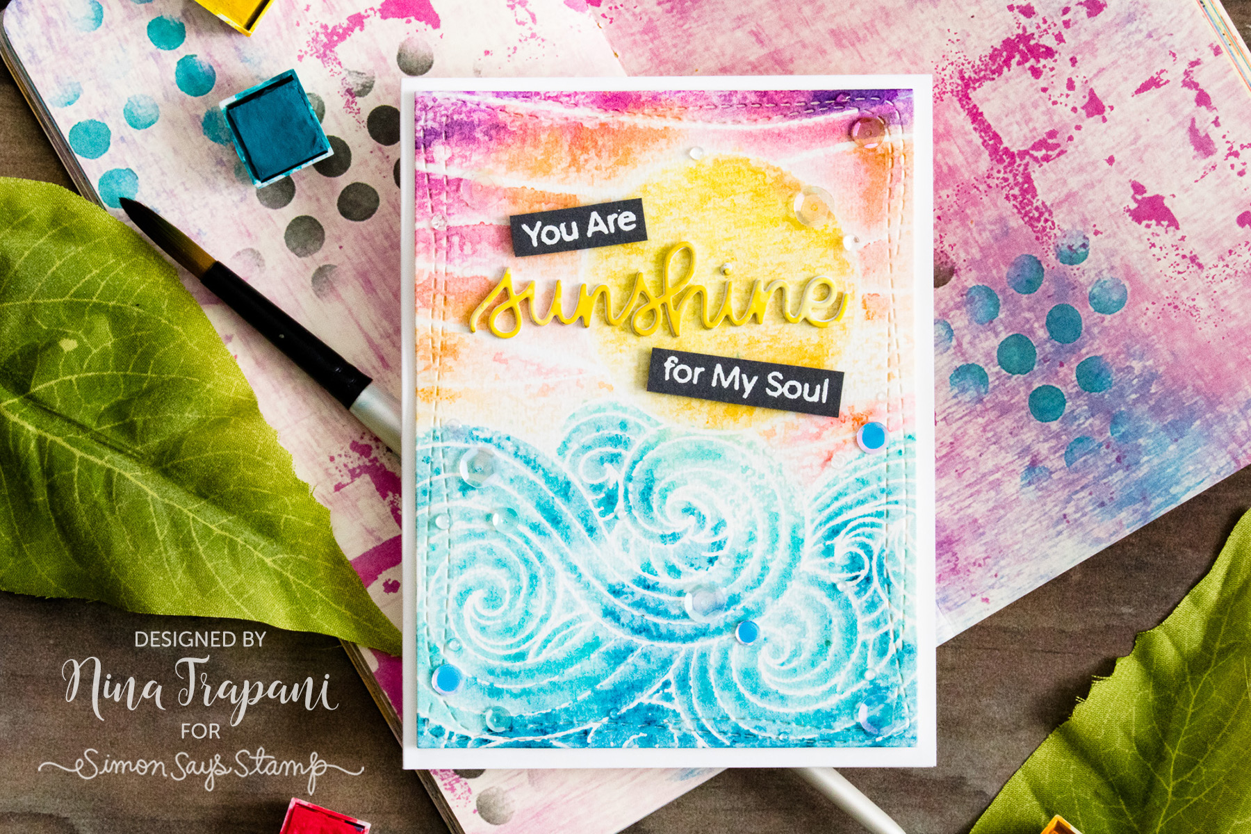 Studio Monday with Nina-Marie: Background Stamping 3 Ways
