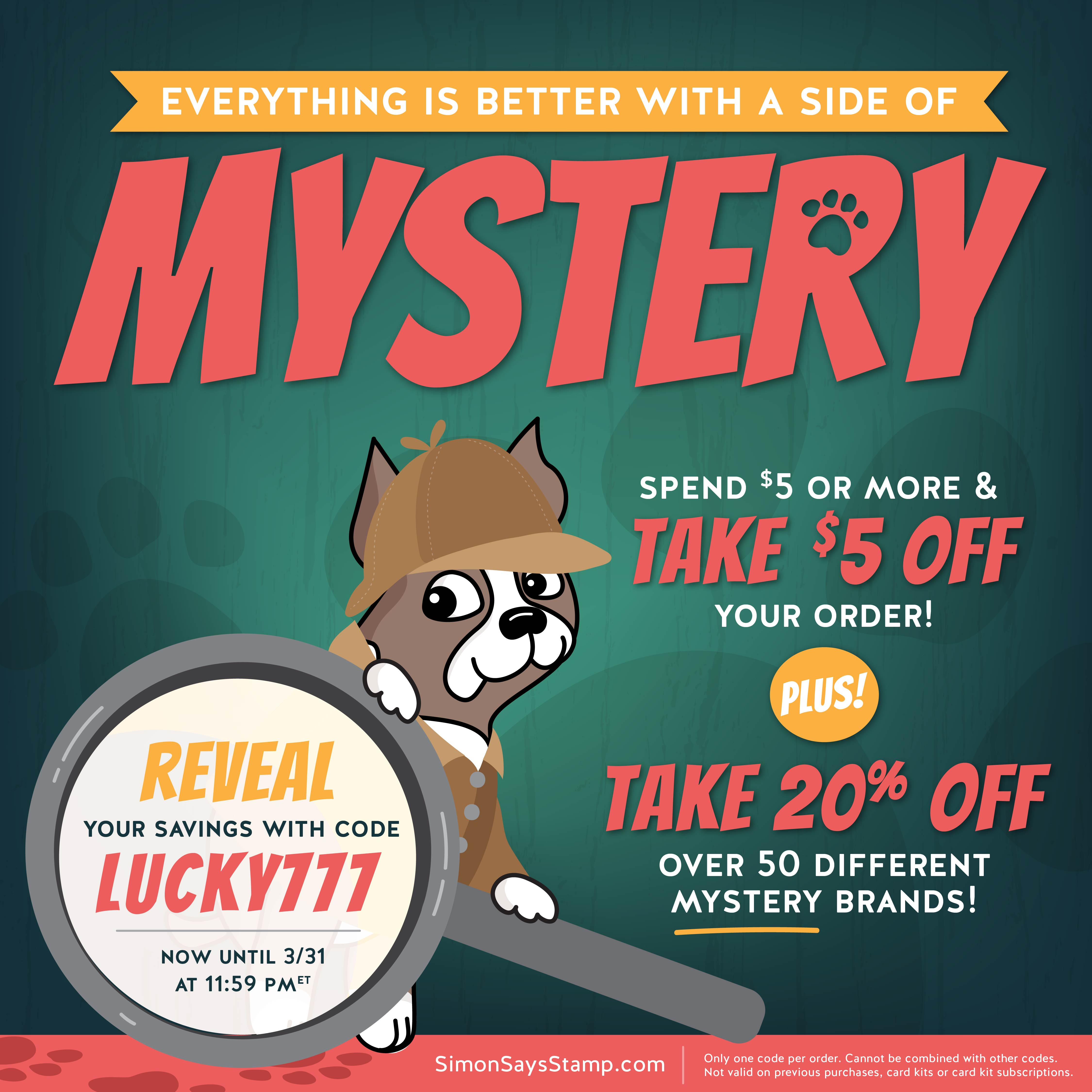 Simon's March Mystery Sale