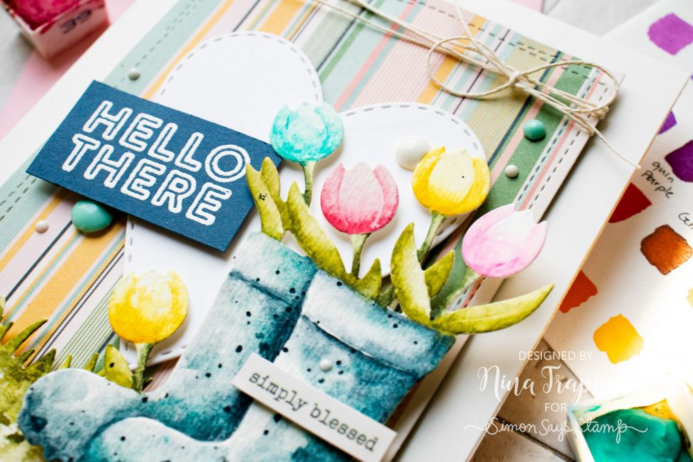 Watercoloring Die Cuts + Simon's April 2019 Card Kit-3
