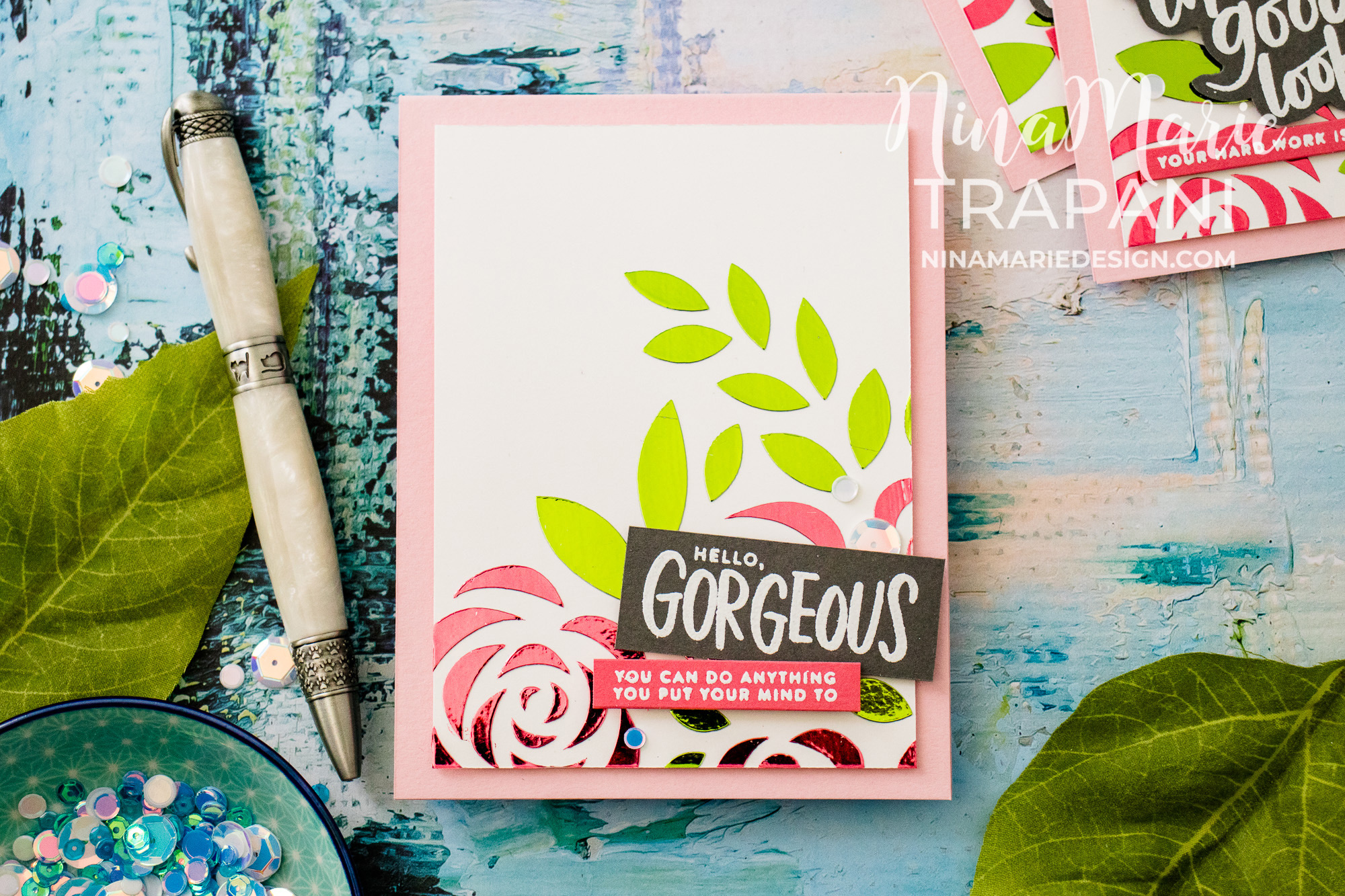 Multicolor Foil + Simon's Blossoms and Butterflies Hop