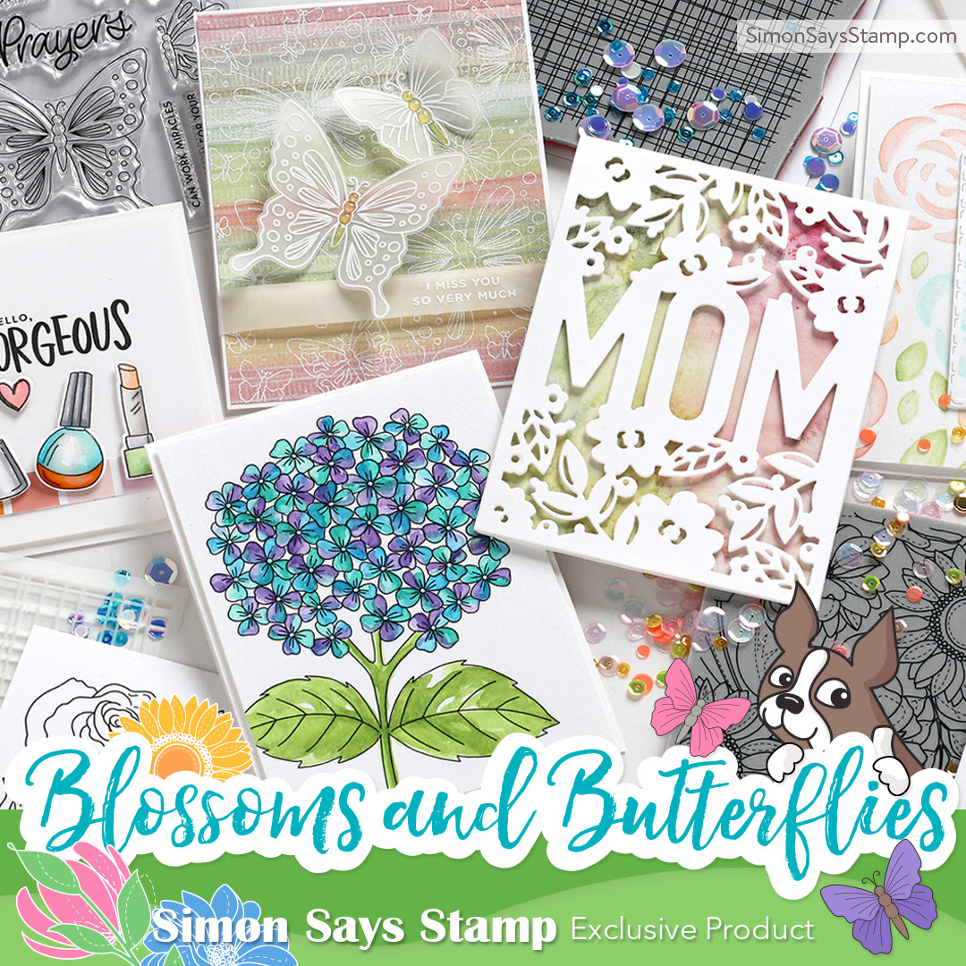 No Line Watercoloring + Simon's Blossoms & Butterflies Release!