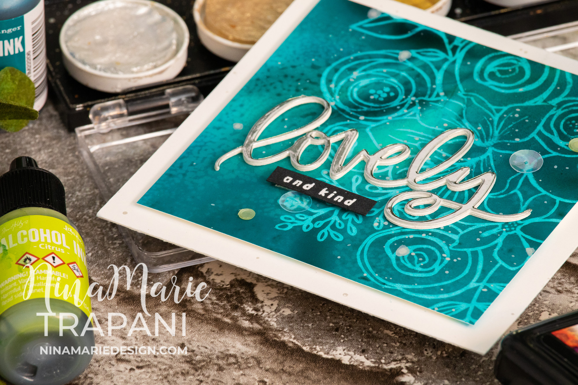 Alcohol Lift Ink Stamping