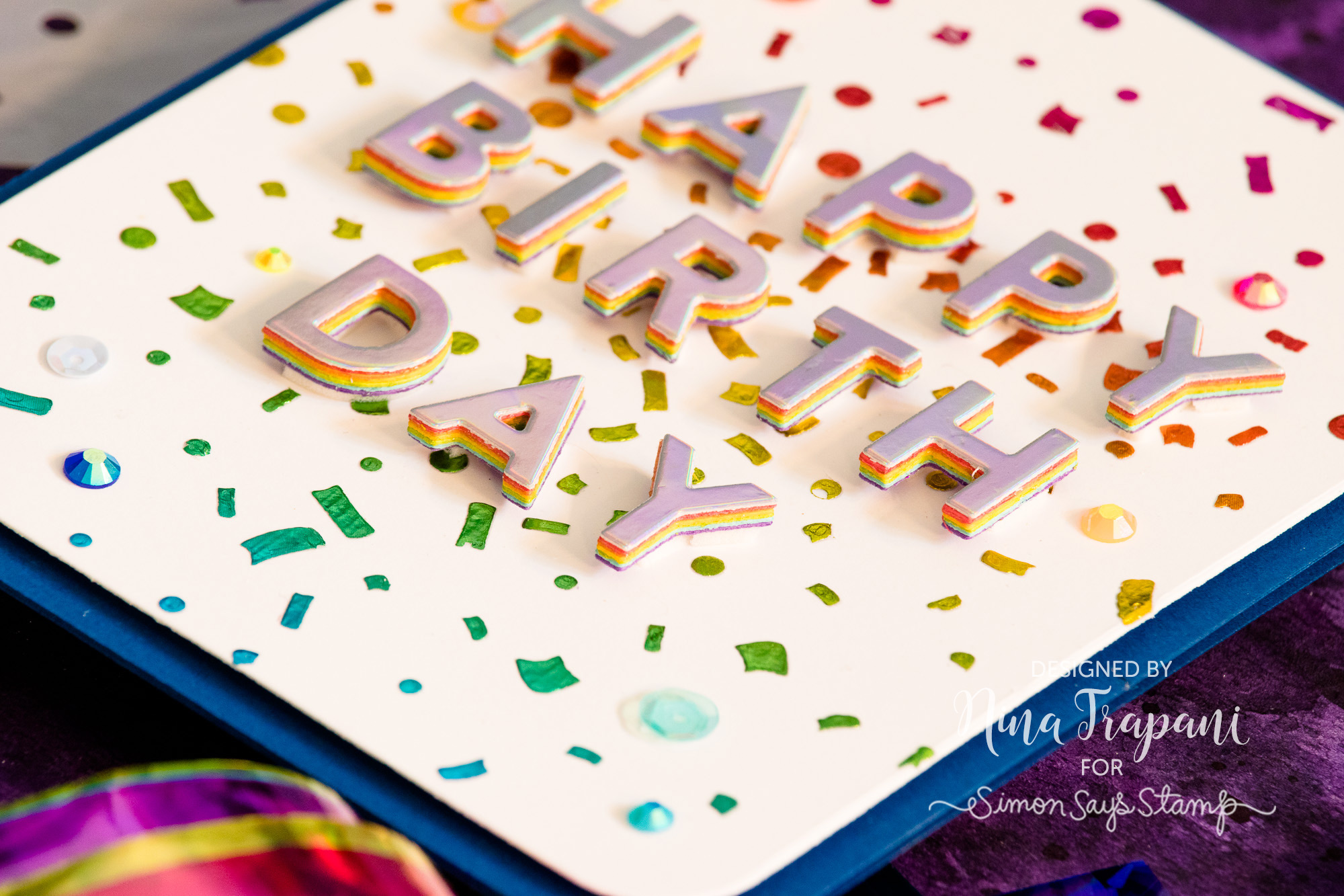 Rainbow Foiling with Stencils 4 Ways