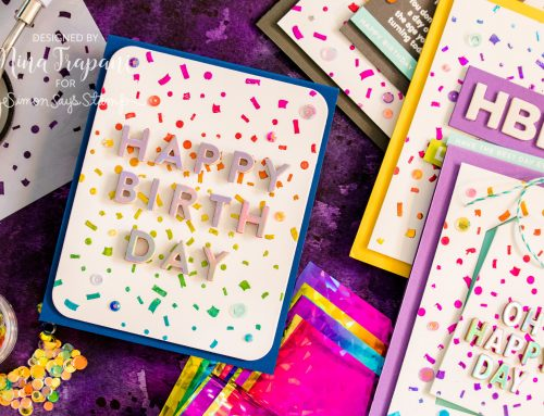 Rainbow Foiling with Stencils 4 Ways + Simon's Celebrate You Blog Hop