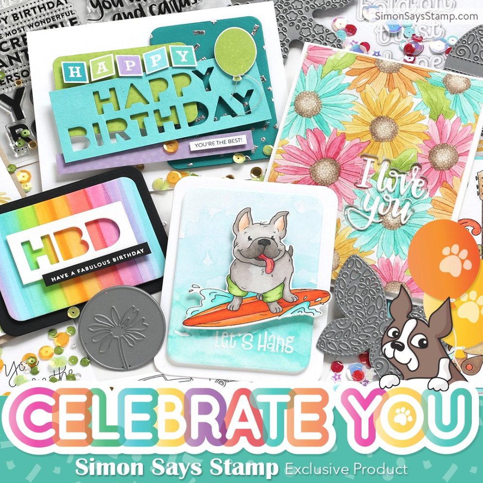 Balancing Color + Peek A Boo Critters with Simon's Celebrate You Release