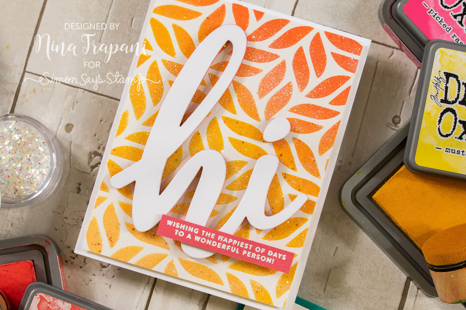 2 Ways to Add Shimmer to Stenciling