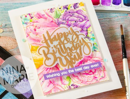 No Line Watercoloring with Metallic Accents + Studio Katia's 3rd Birthday
