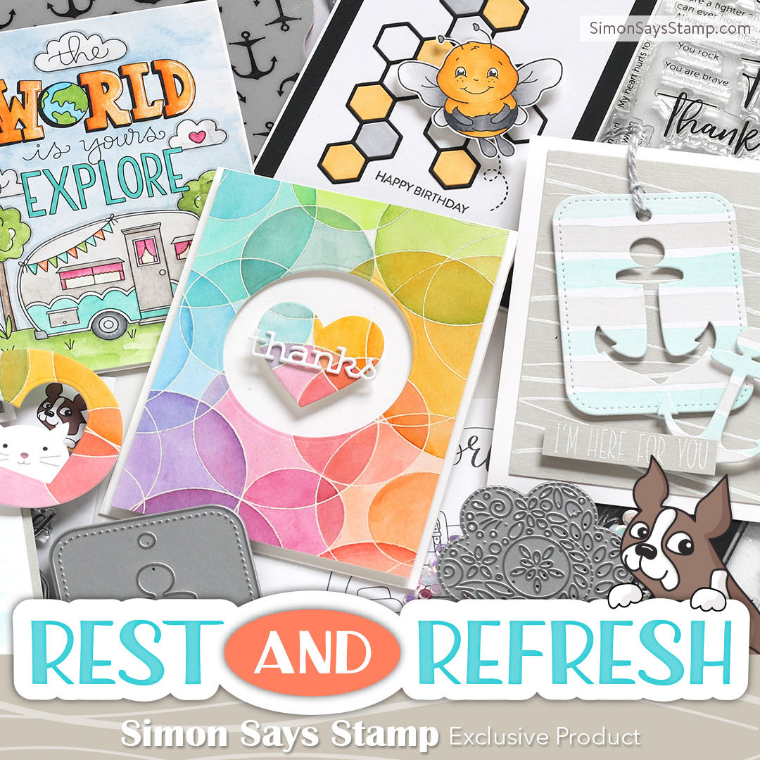 Easy Card & Envelope with Simon's New Rest and Refresh Release!