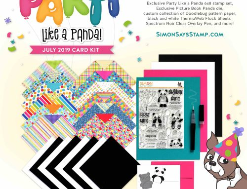 August 2019 Card Kit from Simon Says Stamp: Party Like a Panda!