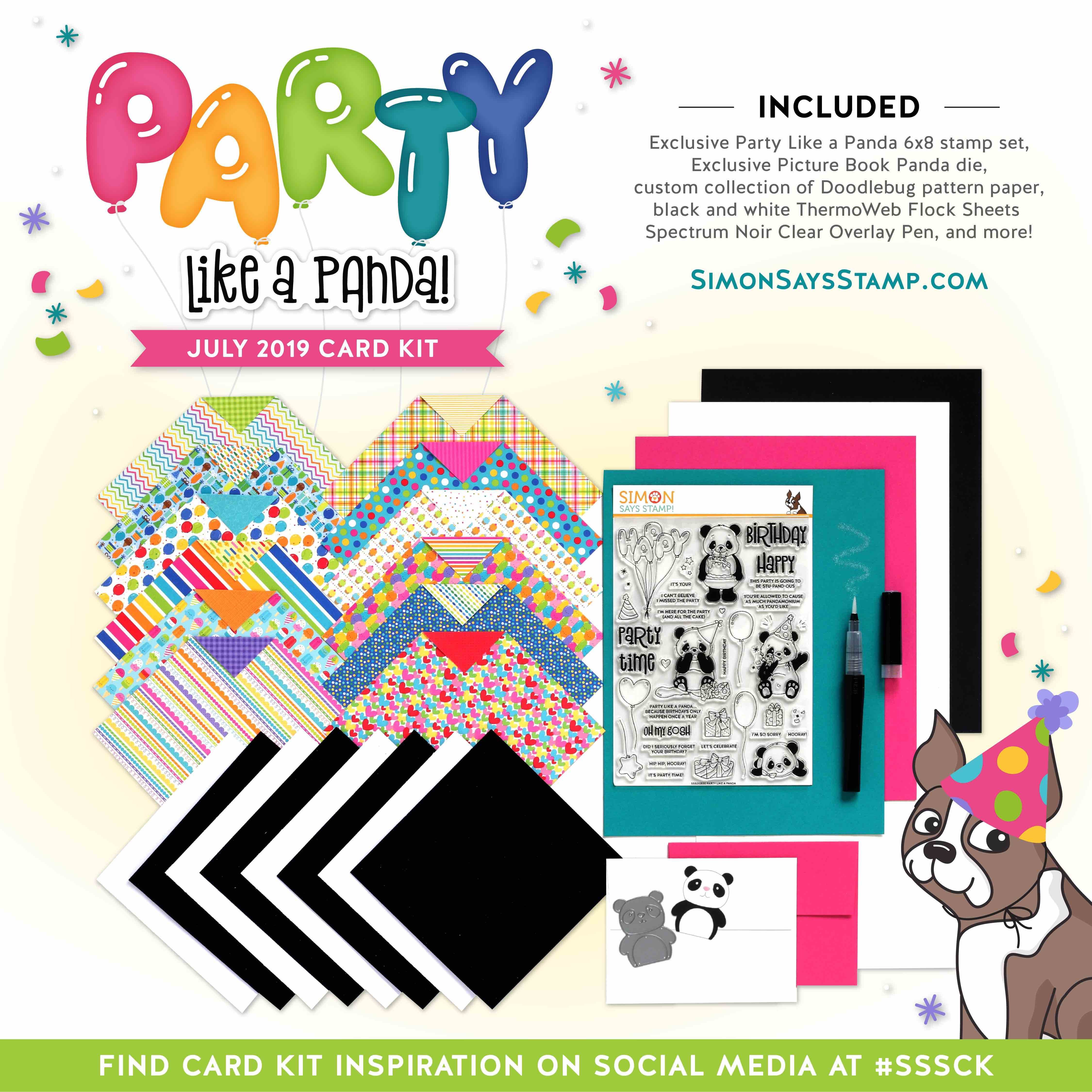 August 2019 Card Kit Party Like a Panda