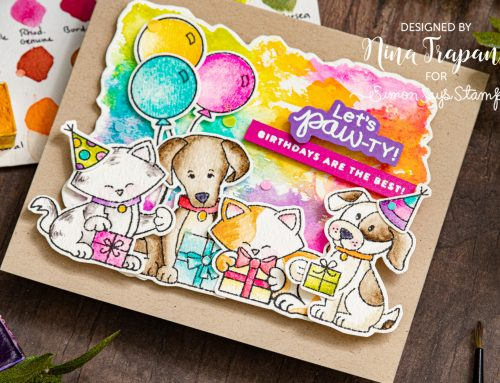 Watercoloring with Simon's STAMPtember Newton's Nook Designs Exclusive