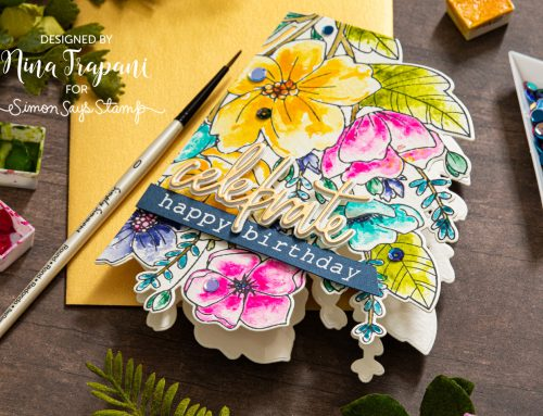 Die Cut Shaped Card + Simon's STAMPtember® Memory Box Exclusive
