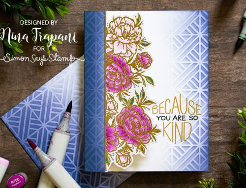 Partial Cut One Layer Card + Simon's STAMPtember® Exclusive with Neat & Tangled