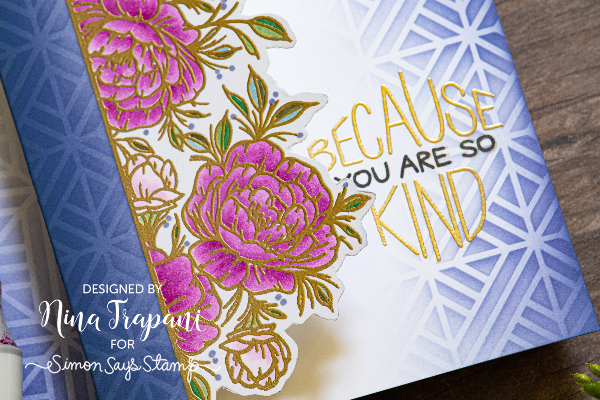 Partial Cut One Layer Card + Simon's STAMPtember Exclusive with Neat & Tangled