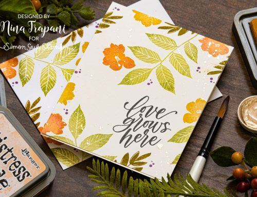One Layer Card + Two Tone Stamping Featuring Simon's STAMPtember® Exclusive with the Stamp Market