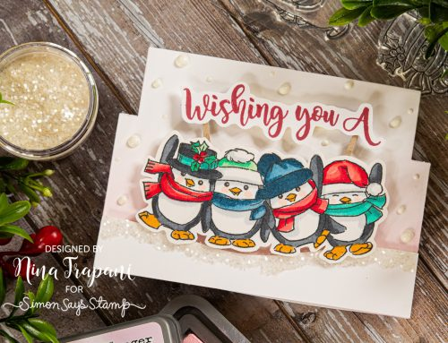 Easy Flip Card Featuring Art Impressions & Simon Says Stamp Collaboration