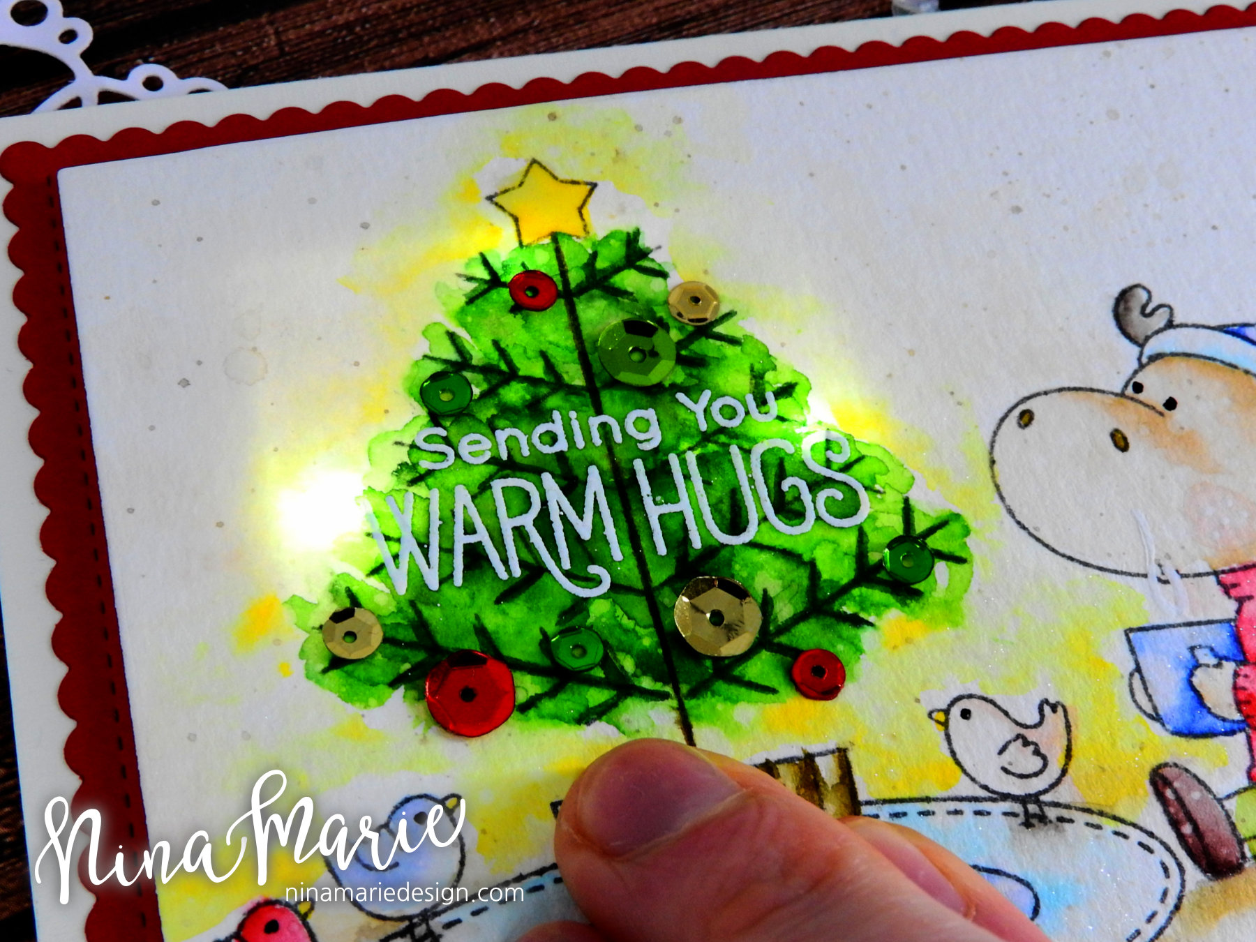 Chibitronics Light Up Card + My Favorite Things Nina-Marie Design