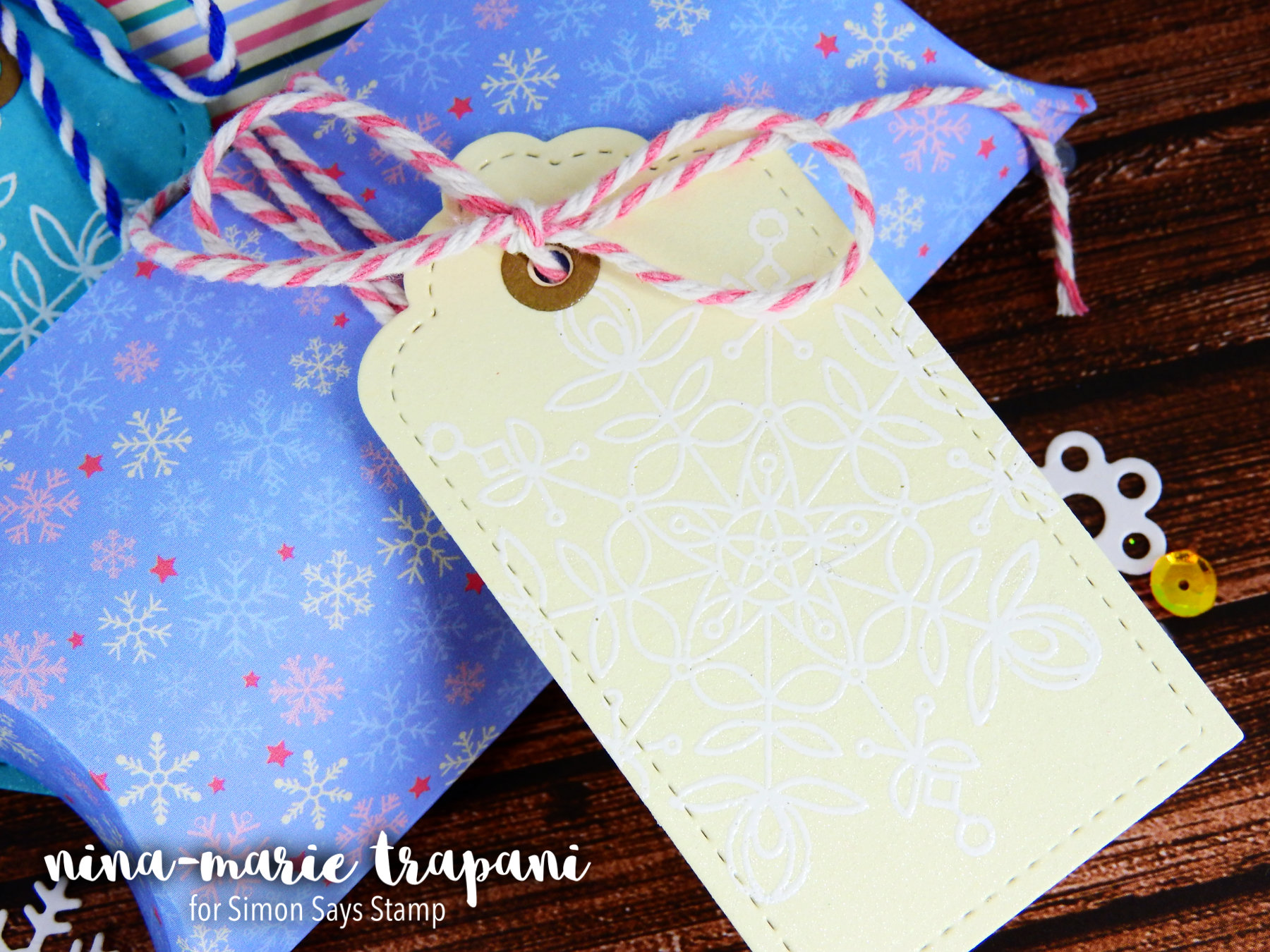 Pillow Box + Gift Tag Set+ Simon Jan. Card Kit Nina-Marie Design