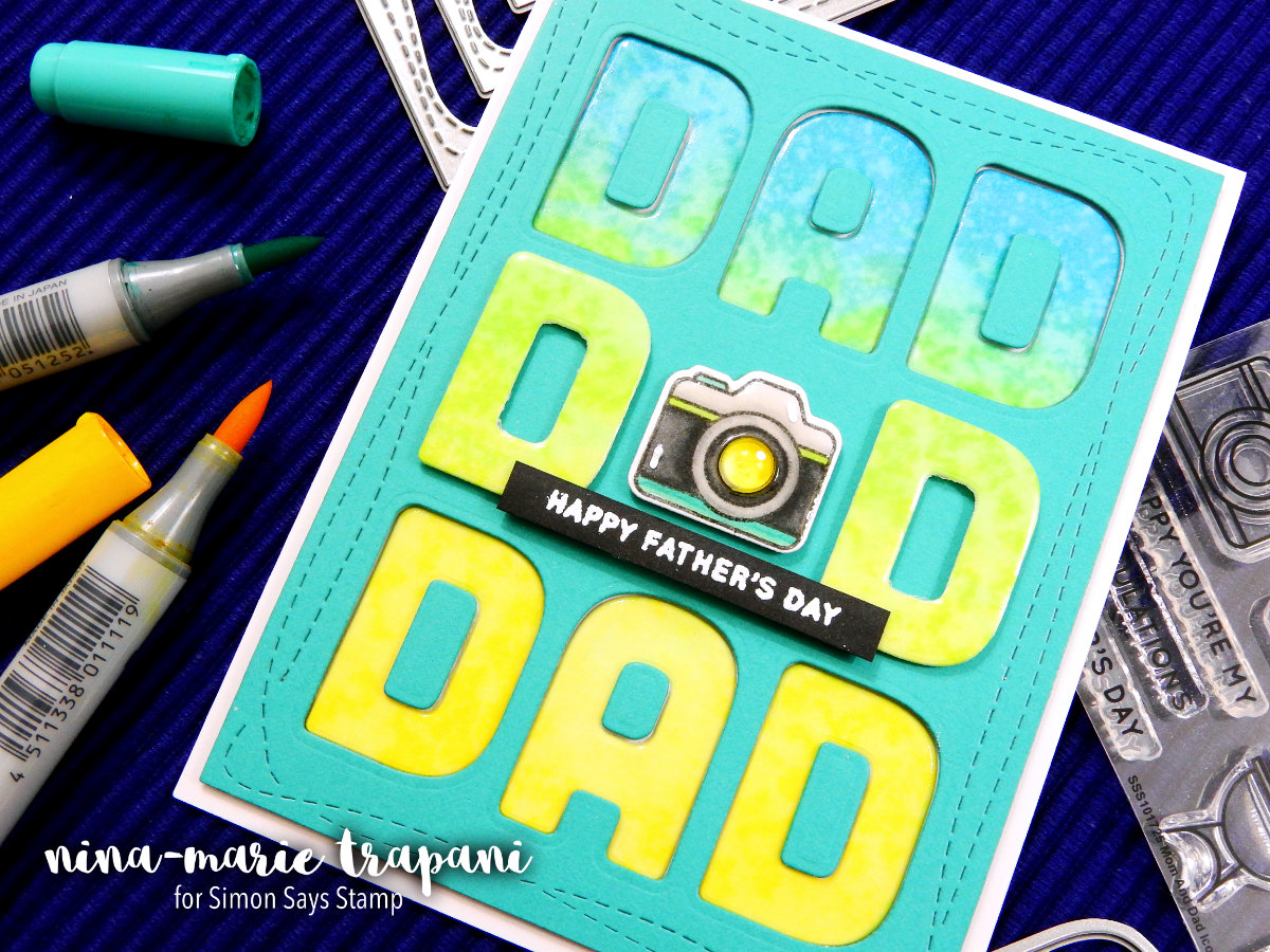 Building a Background with Letter Dies | Nina-Marie Design