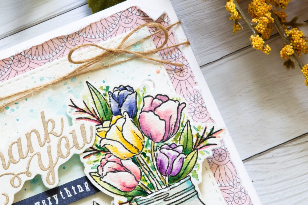 Watercoloring with Simon's August 2018 Card Kit-3