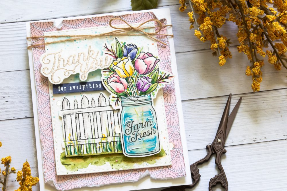 Watercoloring with Simon's August 2018 Card Kit-5