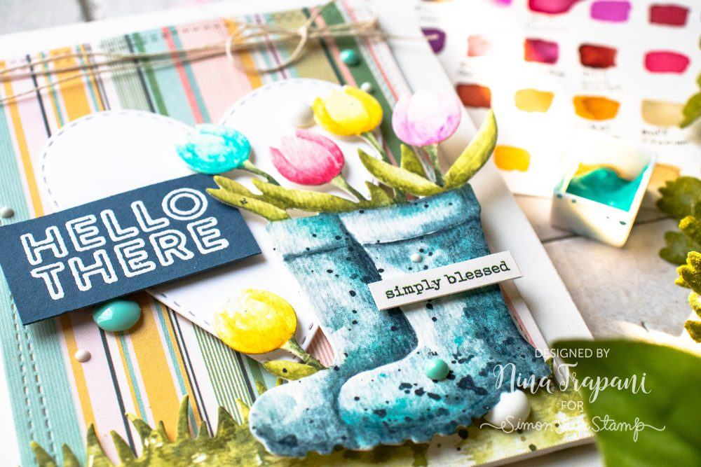 Watercoloring Die Cuts + Simon's April 2019 Card Kit-1